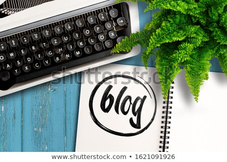 Stock photo: word blog