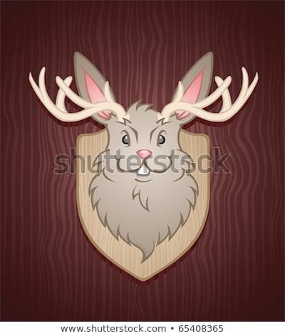 Caça cabine mascote ilustração Foto stock © lenm