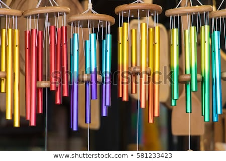 Colorful wind chimes Stock photo © elxeneize