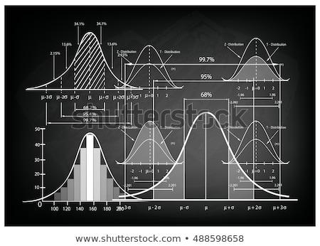 çan · eğri · tahta · normal · dağıtım · denklem - stok fotoğraf © pixelsaway