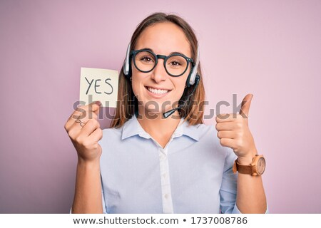 Teken groot ja oproep winkelen recht Stockfoto © Ustofre9