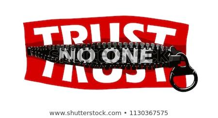 Trust No One Stock photo © stevanovicigor