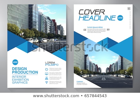 Book Cover Art Template ~ Modern vector abstract blue book cover template