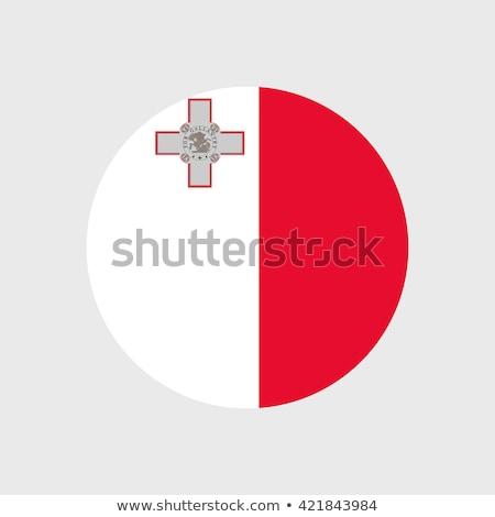 Przycisk symbol Malta banderą Pokaż biały Zdjęcia stock © mayboro1964