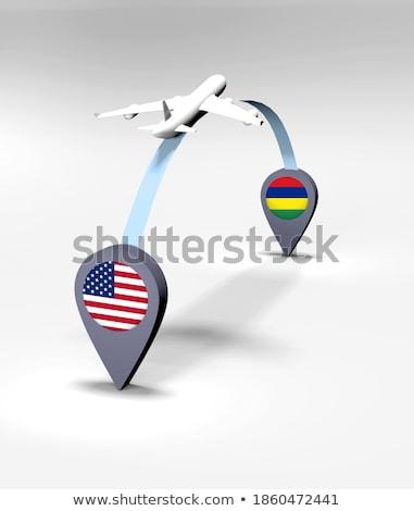 USA Mauritius Stany Zjednoczone Ameryki kraju Zdjęcia stock © tony4urban