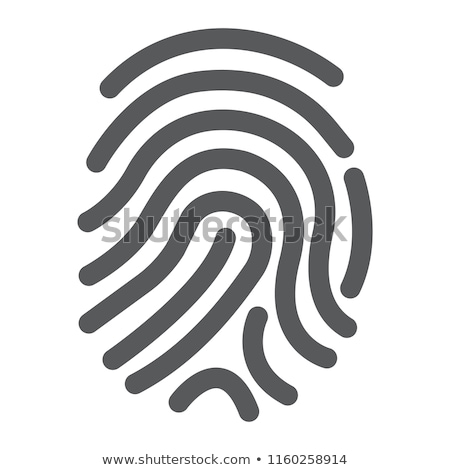 hand finger id icon on white background stock photo © tkacchuk