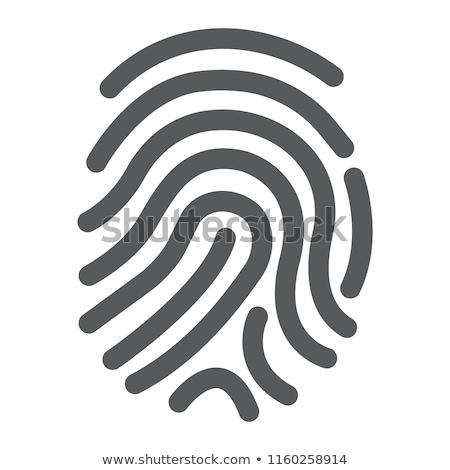 hand finger id icon on white background stock photo © tkacchuk
