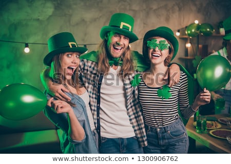 girl with shamrock for st. Patrick's day Stock photo © adrenalina