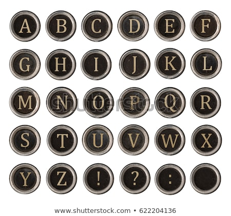 graphic black and white alphabet from vintage typewriter keys stock photo © 3mc