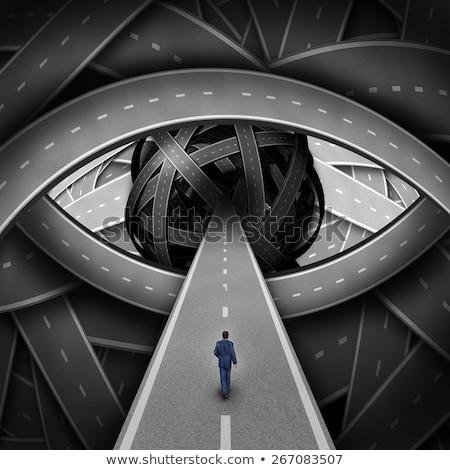 ストックフォト: Recruitment Visionary Road