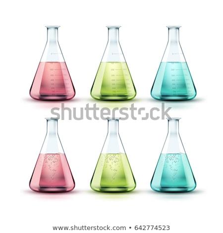 колба розовый белый медицинской стекла науки Сток-фото © OleksandrO
