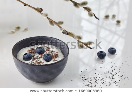 chia seeds in ceramic bowl Stock photo © PixelsAway