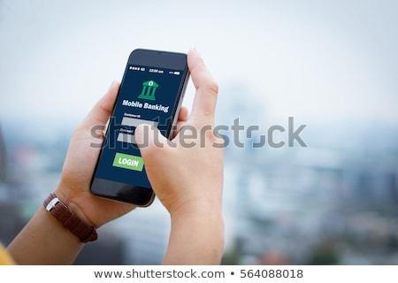 携帯 銀行 スマートフォン を 支払い コイン ストックフォト © Dxinerz
