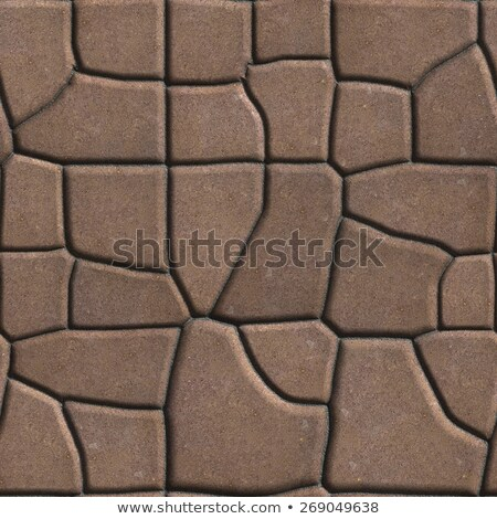 Brown Figured Paving Slabs of Different Value which Imitates Natural Stone. Stock photo © tashatuvango