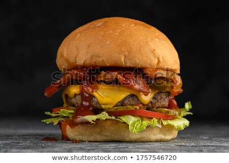 Delicious egg and bacon cheeseburger Stock photo © juniart