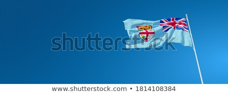 Vlag Fiji geïsoleerd witte Stockfoto © MikhailMishchenko