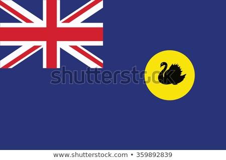 オーストラリア · フラグ · アイコン · 孤立した · 白 · ガラス - ストックフォト © speedfighter