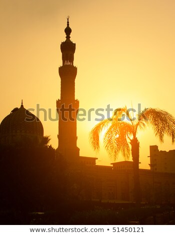 modern tower block cairo egypt stock photo © smartin69