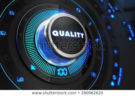quality controller on black control console stock photo © tashatuvango