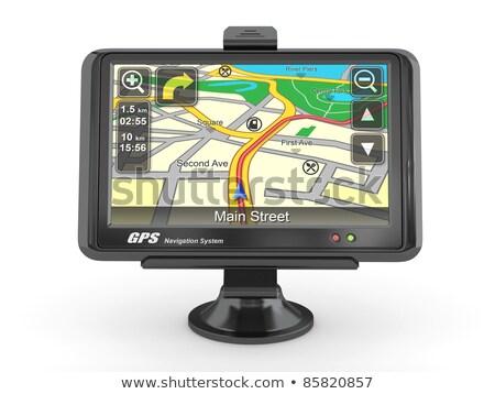 Samochodu GPS nawigacja urządzenie odizolowany biały Zdjęcia stock © stevanovicigor