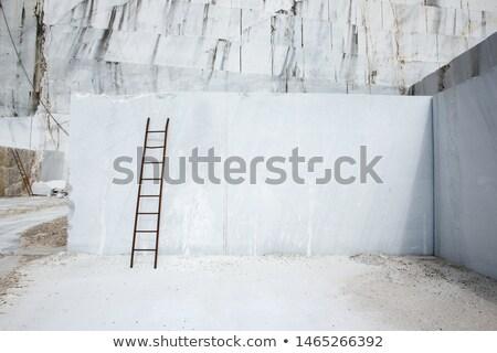 Fehér márvány fotó építkezés fal munka Stock fotó © Nneirda