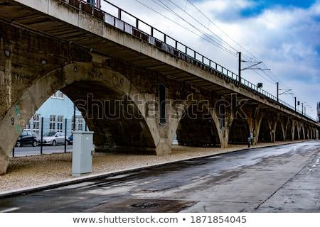 vieux · chemin · de · fer · ville · Pologne · bois · construction - photo stock © oleksandro