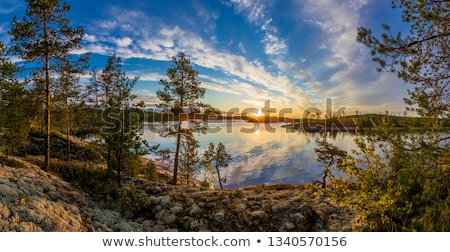 beautiful lake in karelia stock photo © mikko