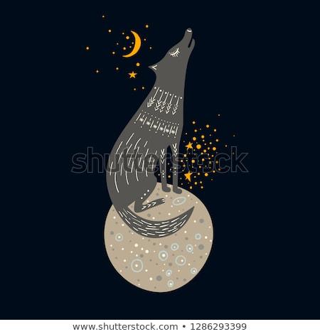 Planet and Hand drawn animal Stock photo © netkov1