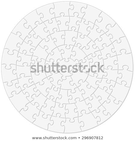 Prostota górę widoku sztuki puzzle Zdjęcia stock © stevanovicigor