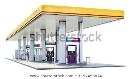 Blanco gasolinera antigua retro negocios Foto stock © ssuaphoto