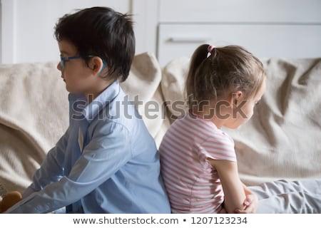 Irritato fratelli altro home soggiorno ragazza Foto d'archivio © wavebreak_media