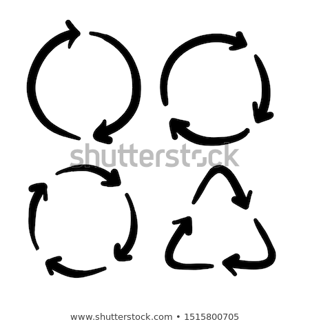 ecology and recycle doodle icons set stock photo © netkov1