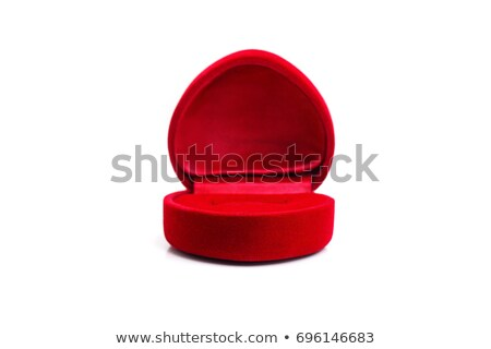 wedding ring in heart-shaped elegant box stock photo © AptTone
