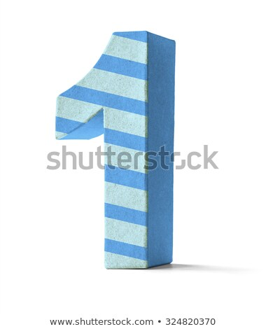 Colorful Paper Mache Number on a white background  - Number 1 Stock photo © Zerbor