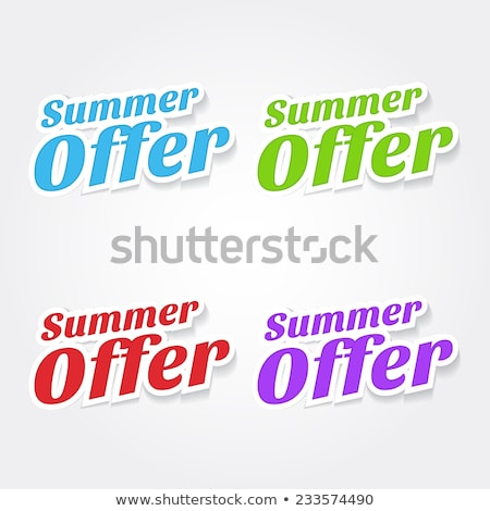 Summer Offers Green Vector Icon Design Stock photo © rizwanali3d