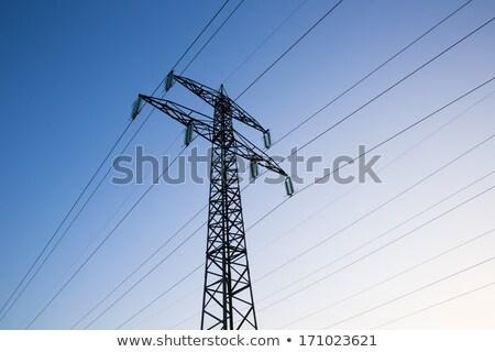 Electricity Pylon in the blue sky Stock photo © nemalo