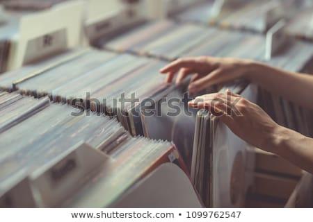 The girl and the gramophone Stock photo © nizhava1956