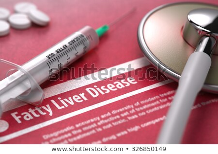 Fatty Liver Disease. Medical Concept on Red Background. Stock photo © tashatuvango