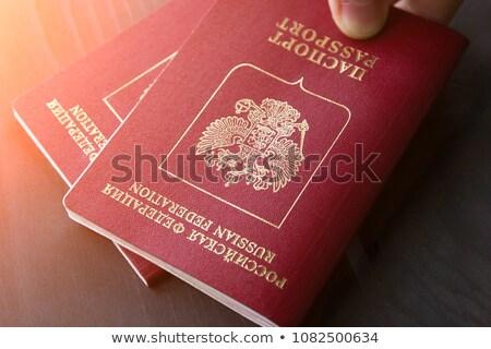 Russisch paspoort dekken witte veiligheid Stockfoto © Bigalbaloo