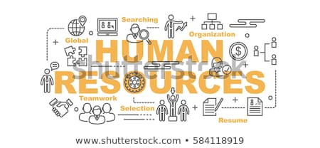 human resources management icon business concept flat design stock photo © wad