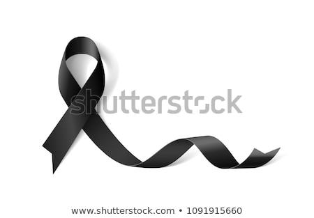 черный лента символ день траур изолированный Сток-фото © orensila