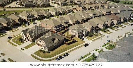Aerial view of residential houses in Texas Stock photo © lunamarina
