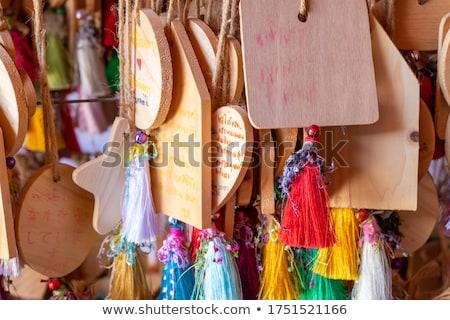 Fából készült fogkő akasztás fa istentisztelet ázsiai Stock fotó © paulwongkwan