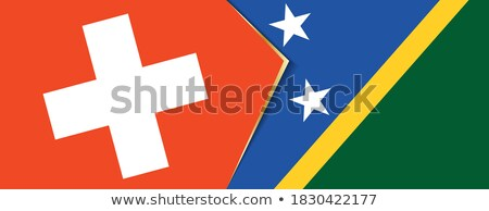 Switzerland and Solomon Islands Flags Stock photo © Istanbul2009