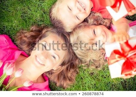 madre · hija · hierba · parque · mujer · nina - foto stock © Paha_L
