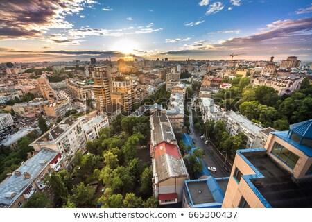 Kiev panorama overview, Ukraine Stock photo © joyr