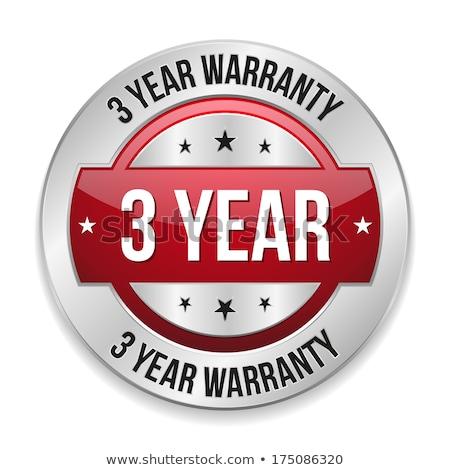 Jahre Garantie rot Vektor Symbol Design Stock foto © rizwanali3d