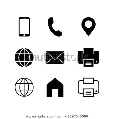 Fax telefon fehér iroda telefon háttér Stock fotó © Paha_L