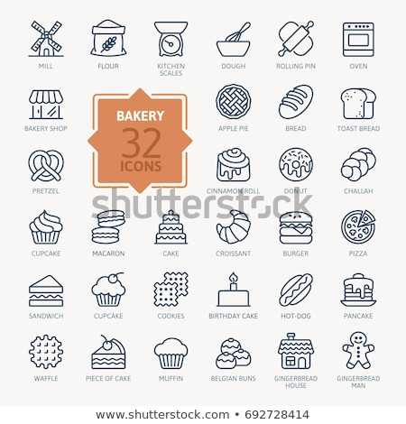Bochenek line ikona internetowych komórkowych infografiki Zdjęcia stock © RAStudio