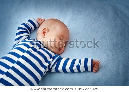 cute · pasgeboren · kind · slapen · zachte · deken - stockfoto © mikko